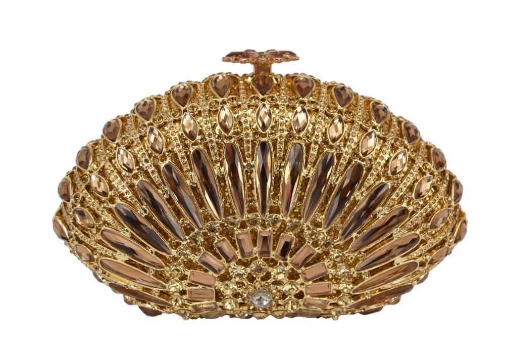 Boutique or rhin pierre incrusté sacs de mode dames sacs de luxe méta lMaterial sac à main de soirée pour les femmes sac à main de mariage
