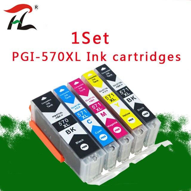 1 세트 캐논 570XL PGI 570 잉크 카트리지 PGI570 CLI571 PGI570XL PIXMA MG5750 MG5751 MG5752 MG5753 MG6850 프린터