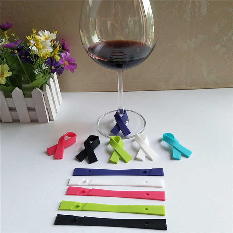 6 шт./компл. шарф Тип силиконовые стекло вина этикетка Recognizer Чай Чашку маркер для бутылки логотип вина украшения