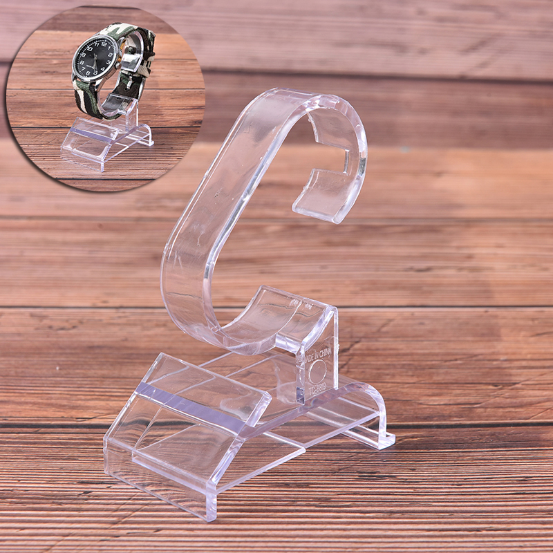 Practical Fashion Clear Acrylic Bracelet Watch Display Holder Stand Rack Showcase Tool Transparent Wristwatch Light Weight Stand