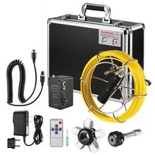 Lixada 9 Inch 20M/30/40M Pipe Inspection Camera Drain Sewer Pipeline Industrial Endoscope Snake Camera Underwater Camera