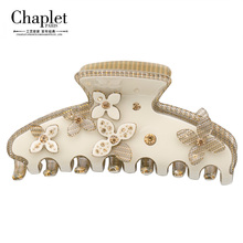 Chaplet 2016 High Quality Luxury Rhinestone Hair Claw Clips Women Hair Accessories Flower Hair Claws Hair