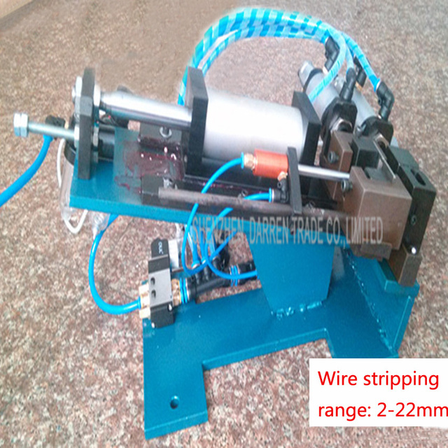 1PC DZ 315 Hot sale Semi auto&Pneumatic Wire/Cable Cutting Stripping ...