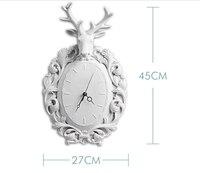 Голова оленя стене висит современный минималистский настенные украшения дома гостиная Мода Ресторан творческая настенные часы