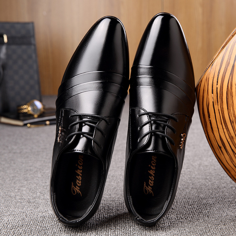 Spring Fashion Genuine Leather Men Shoes Men's Lace-up Breathable Business Casual Shoes Hot Sale Man Leather Shoes Size 38-44 high quality genuine leather men shoes men s lace up breathable casual shoes vintage fashion men leather shoes plus size 37 47
