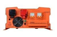 Lcdディスプレイピーク電力24000ワットインバータ8000ワット48ボルトに220ボルト純粋な正弦波太陽光発電インバータでソーラー充電器コントロー