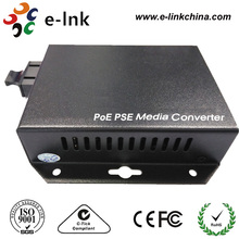 25.5W SM Dual Fiber Wall-Mounted 10/100Mbps Fast Ethernet PoE/PSE Media Converters