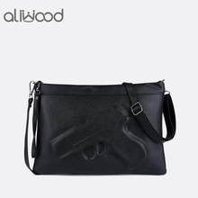 Брендовые женские сумки через плечо Модные клатчи 3D принт кожа пистолет сумка женские кошельки Дизайнер Высокое качество