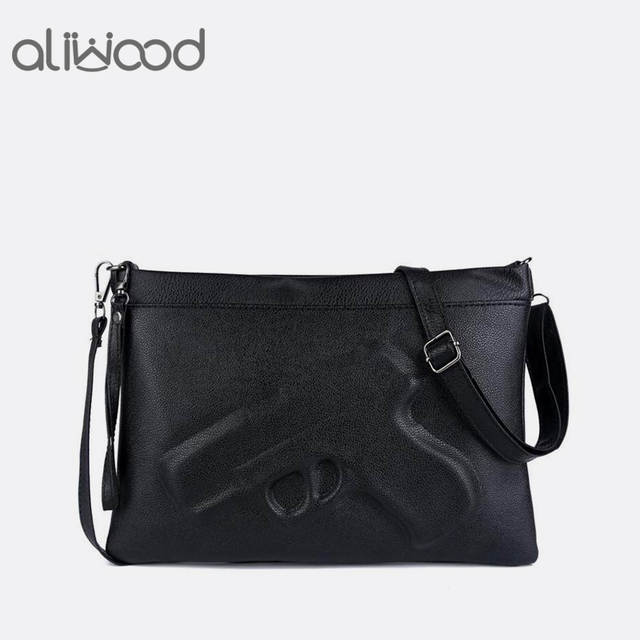 Brand Women's Messenger Bags Shoulder Handbags Fashion Clutches 3D Print  Leather Pistol Bag Ladies Purses Designer