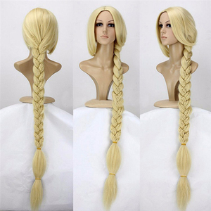 """Image 1 - Tangled Princess 120cm 47"""" Straight Blonde Super Long Cosplay Wig Rapunzel Synthetic Hair Anime Wig + Wig Cap"""