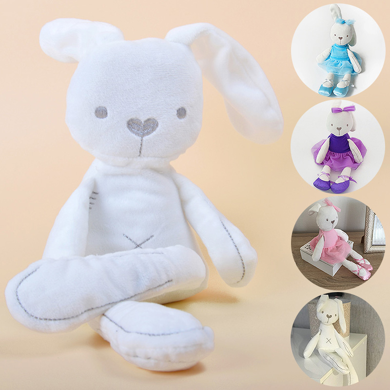 Baby Kids Girls Elephant Rabbit Bunny Sleeping Comfort Stuffed Soft Plush Dolls