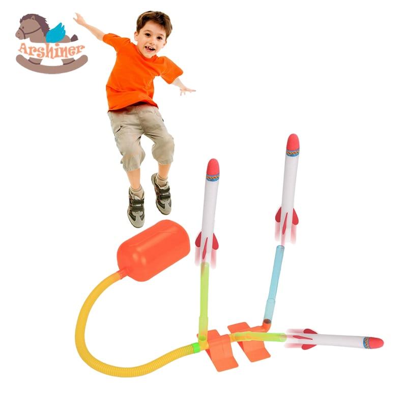 Arshiner Rocket Tpy Kids Children Pump Rocket Dueling 4