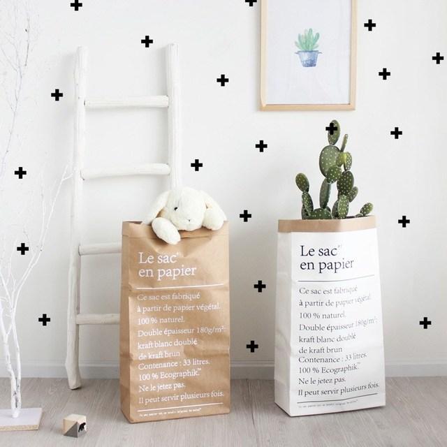 Artificial Plant Flowers Organizer Craft Paper Holder Bag Desk