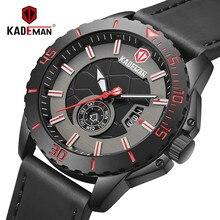 2019NEW Casual Men Watch Sport Waterproof Quartz TOP Brand KADEMAN Fashion Wristwatch Unique Young Relogio Masculino