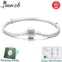 Freies Geschickt Zertifikat! Original 925 Solide Silber Schlange Knochen Charme Armbänder Armreifen Hochzeit Schmuck für Frauen Lange 16-23 cm ZS005