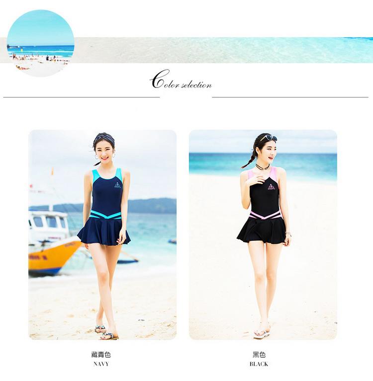 06c0544ce2947 2019 VERZY Pretty One Piece Swimsuit Skirt Women Beach Swimwear ...