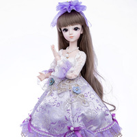 Princess anna 1/3 60CM BJD doll DIY fashion wig doll dressed princess doll girl Toys