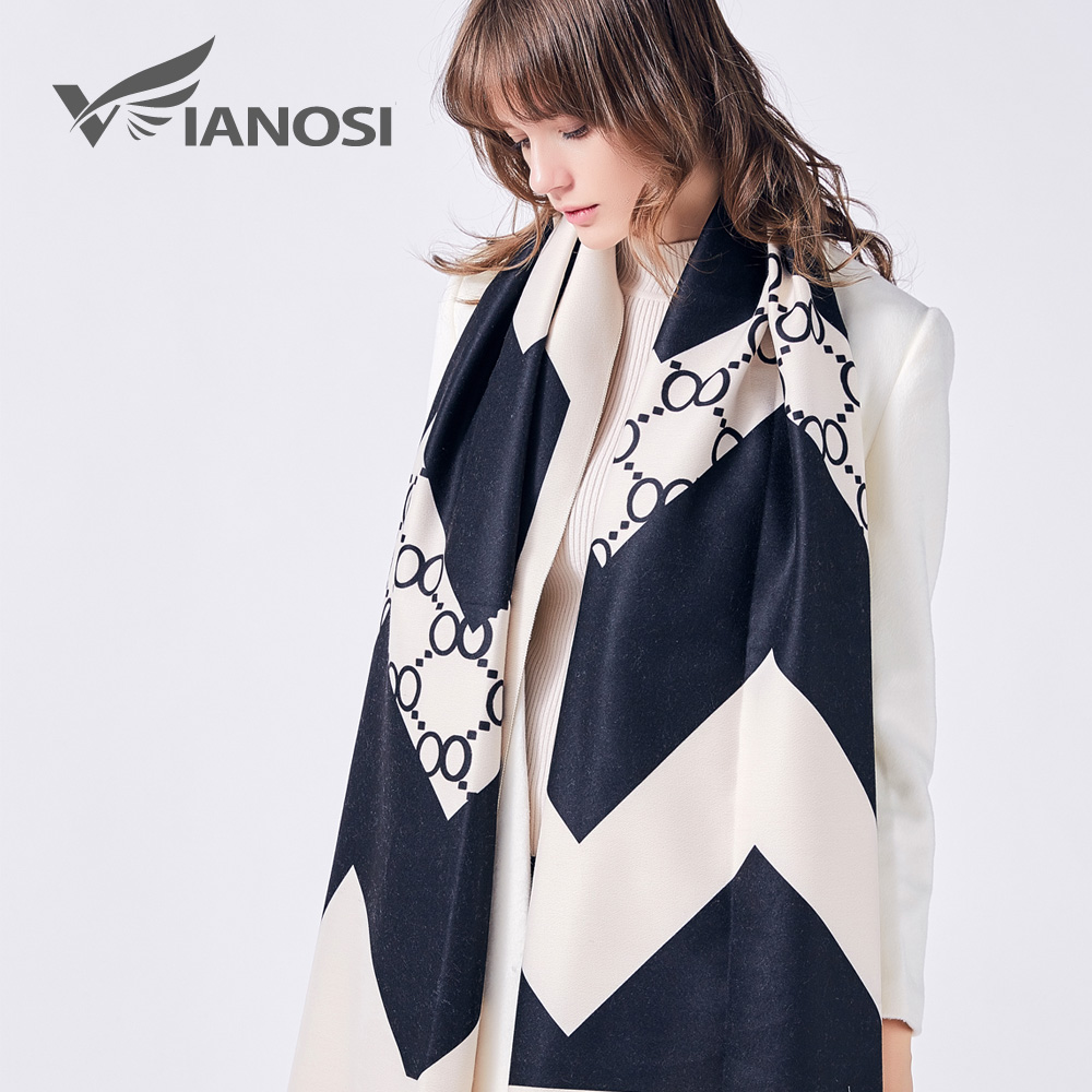 VIANOSI Luxury   Scarf   Women Wool Cape Cashmere Shawls and   Scarves   Thicken Foulard Warm   Wrap   Print Winter   Scarf   Woman VA227