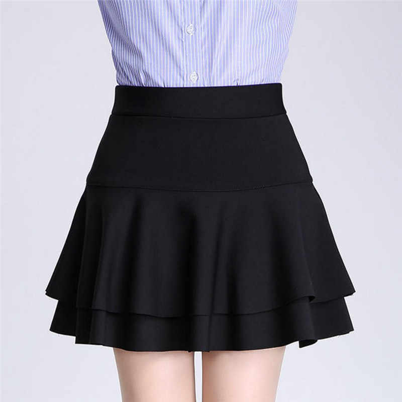 a75963217c Women's Spring and Summer Solid High Waist Pleated All Match Short Skirt  Summer Style Korean Version