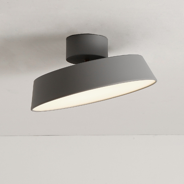 Modern Nordic Simple Ceiling Light Minimalist Flush Mounted Lamp For Study Dining Room Foyer