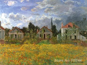 bedroom art Houses at Argenteuil Claude Monet paintings home decor High quality Hand painted