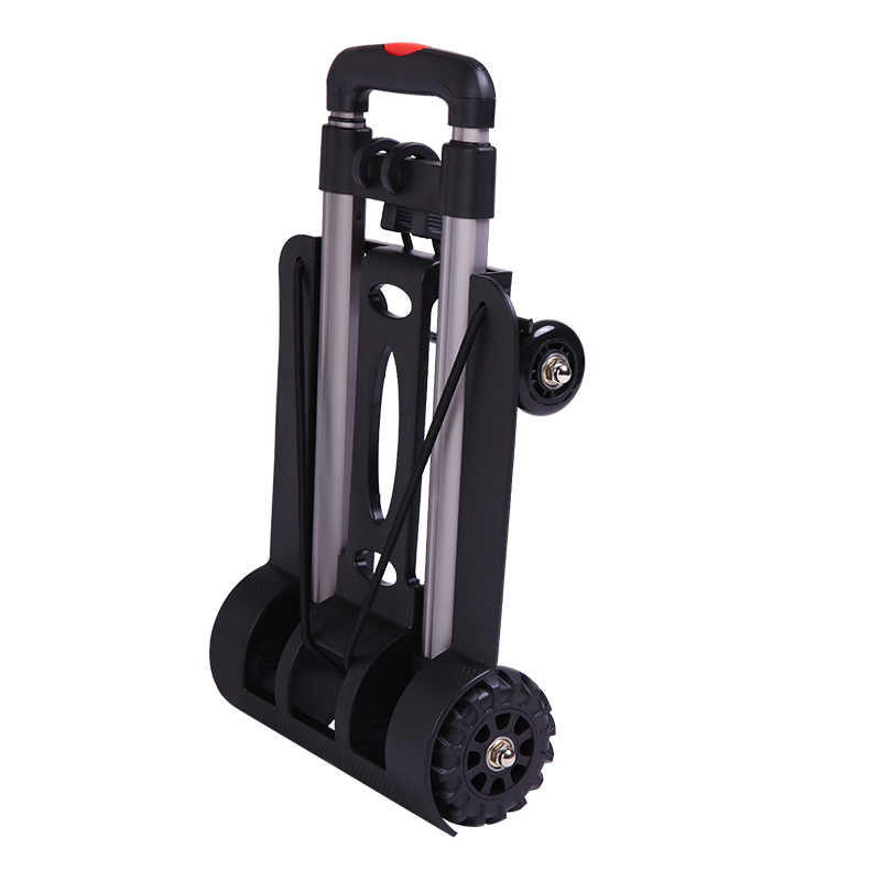 f13fe4d7b123 Portable folding small cart home storage basket shopping cart pull ...