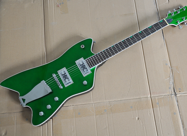aca168cca7 Wholesale Green gretsch Electric Guitar with Iron Tailpiece,Rosewood  Fretboard with Green Inlay,offering customized services