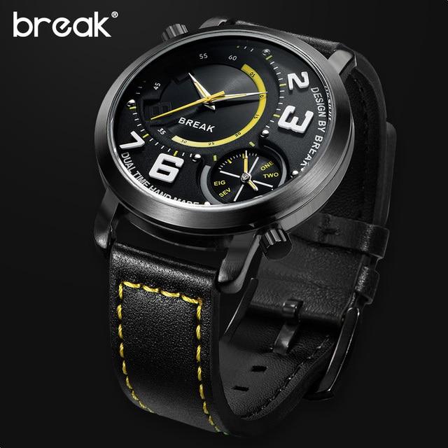Sport Style Dual Time Zone Quartz Wristwatches 2