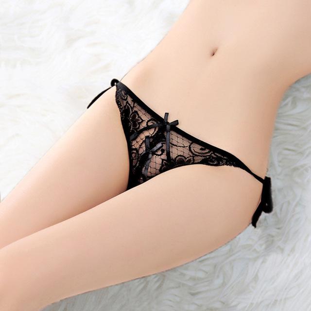 Sexy Underwear Women Lace Briefs Transparent Sexy Panties Ultra-thin Lace Low Waist Sexy Underwear Female Briefs Panties