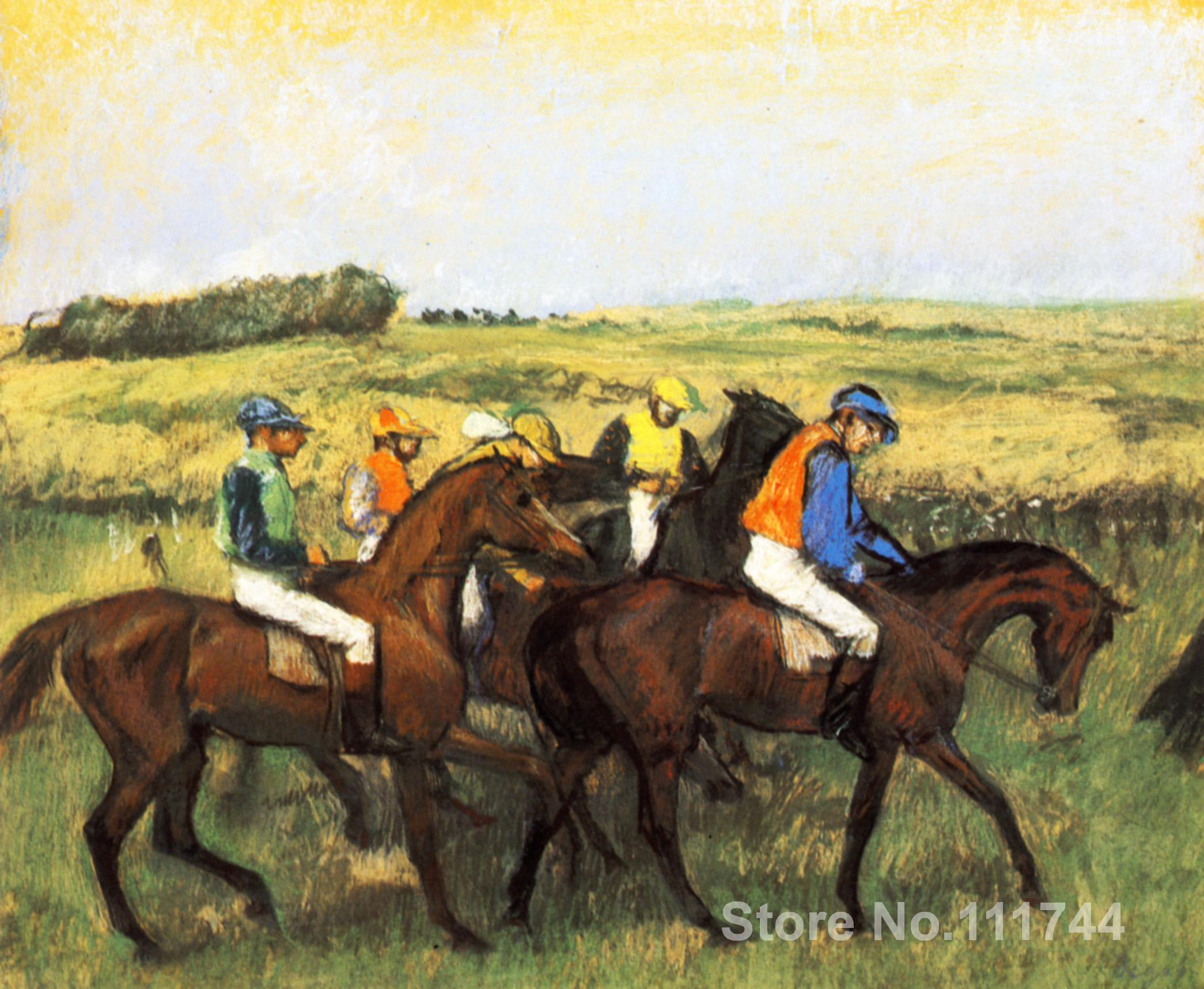Kitchen art The Racecourse by Edgar Degas paintings Home Decor Hand painted High qualityKitchen art The Racecourse by Edgar Degas paintings Home Decor Hand painted High quality