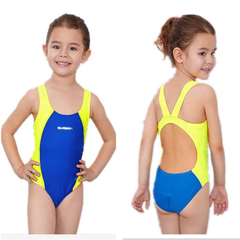 0397da91bb Funfeliz Girls Sport Swimsuit Kids bathing suit infantil One Piece swimwear  for girls bathers Children lovely Swimming Suit 3 10-in Children's  One-Piece ...
