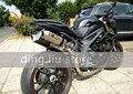 New ID: 51mm Universal Motocicleta Silenciador de Aço Inoxidável Tubo de Escape Da Motocicleta Modificado Pode trabalhar para CBR GSXR NINJIA R1 R6