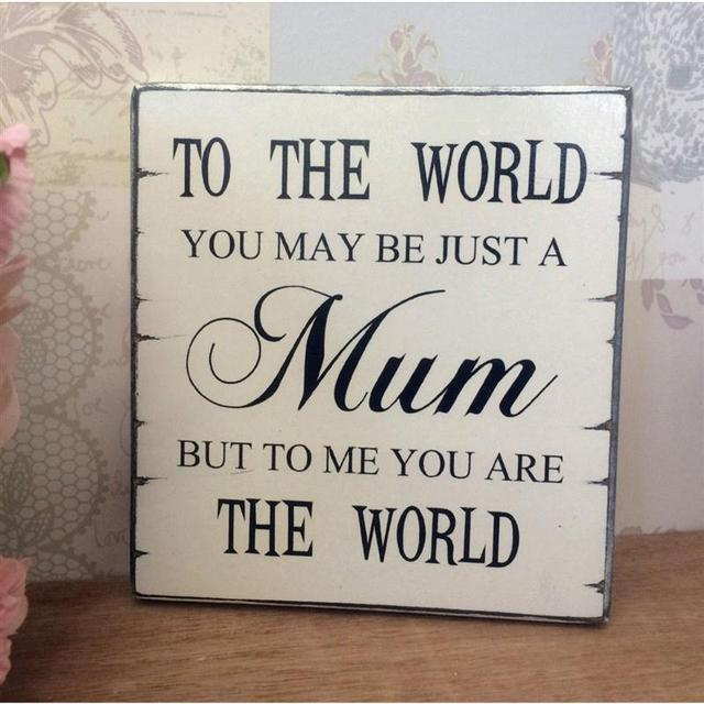 Mothers Day Letter Wedding Wooden Signs Wood Sign Mothers Day Gift Coffee  Pub Wall Plate Art