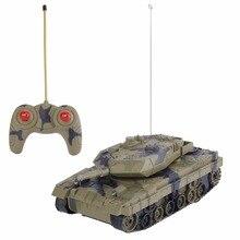 Kids 1 24 4CH Electric Remote Control Tank Fighting Vehicles Battle Light Music RC Radio Tank