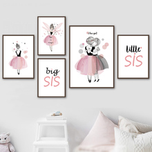 Baby Girl Poster Cute Canvas Art Picture Nordic Posters And Prints Nursery Watercolor Paintings On Unframed
