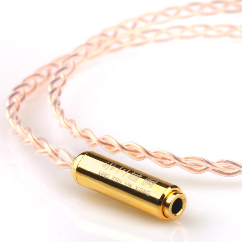 Xiao Fan Main Y03 Extension Cordon Unique Cristal De Cuivre Ordinateur Haut-Parleur 3.5mm Mâle à Femelle Câble Audio Casque Longue ligne
