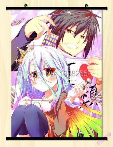 Home Decor Anime Japanese Poster Wall Scroll No Game No Life Kuhaku Sexy