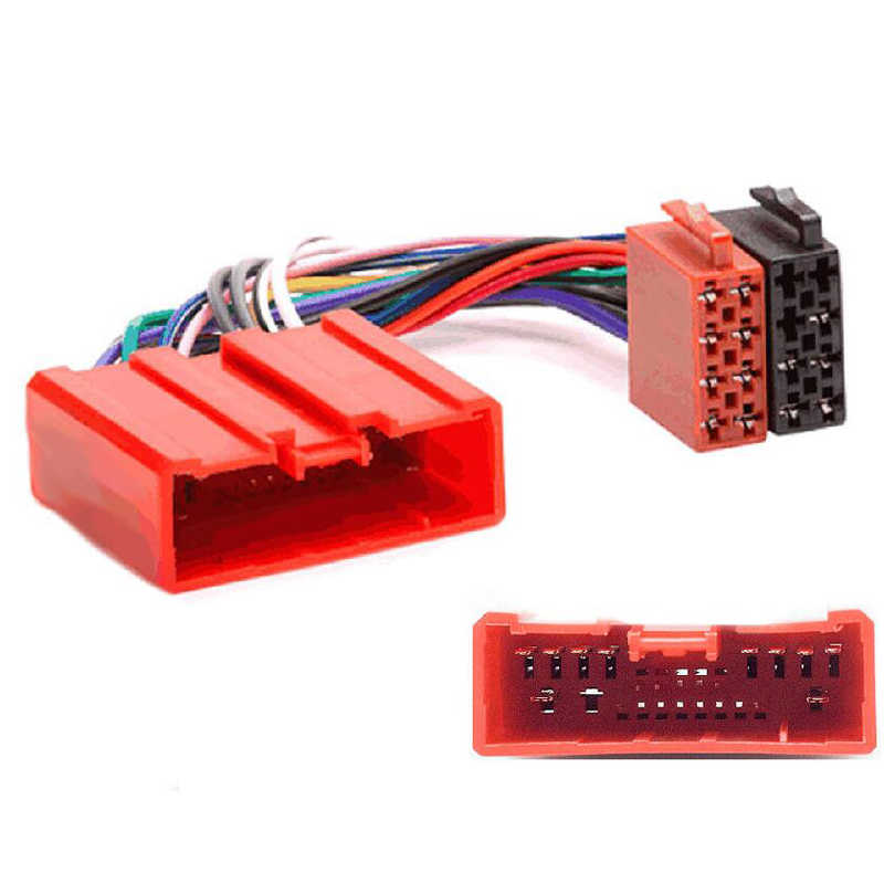 Car Factory Radio Stereo ISO Male Wiring Harness Adapter Red Port for Mazda 2 3 6