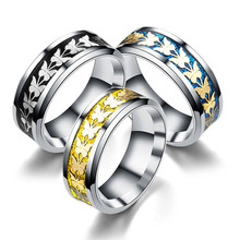 Men Rings Stainless Steel butterfly Fashion Women Male Jewelry Gifts Titanium steel tail ring