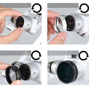 Image 2 - Screw on UV CPL ND4 ND8 ND16 ND2 400 Filter for DJI Phantom 3 Phantom 4 Drone Camera Lens Polarizing Neutral Density Spare Parts