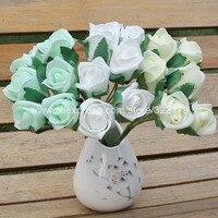 Pianka kwiaty róże sztuczne pąki kwiatowe 144 głowice do corsages oczyszczenie groomsmen boutonniere bukiet ślubny kwiaty diy rzemiosło