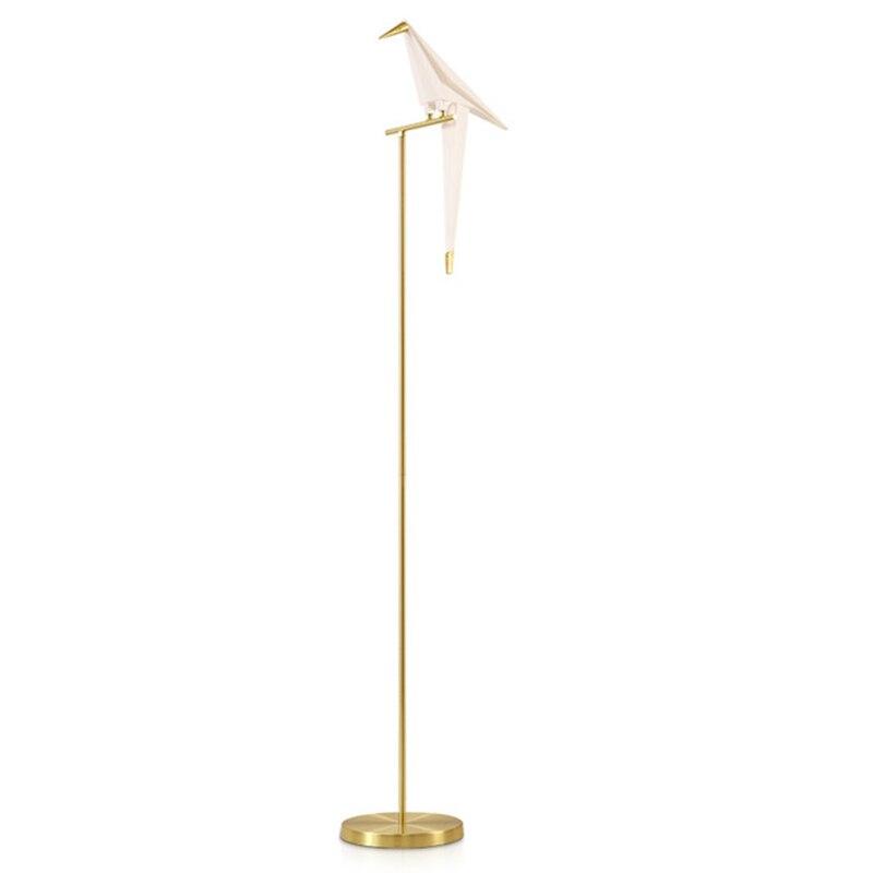Ikvt moderno papel guindaste lustre de metal para restaurante sala de estar sala de jantar quarto das crianças led design pássaro pingente lâmpada - 3