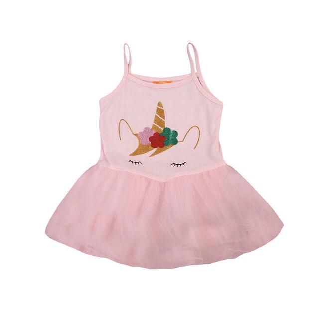Primavera unicornio verano Vestidos niño Niñas unicornio princesa Tutu  Vestidos ropa 2-5 t bda35dcf32d