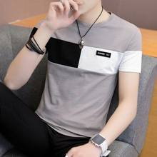 2019 nieuwe mannen t-shirt casual korte mouw heren basic tops tees stretch t-shirt heren kleding chemise homme(China)