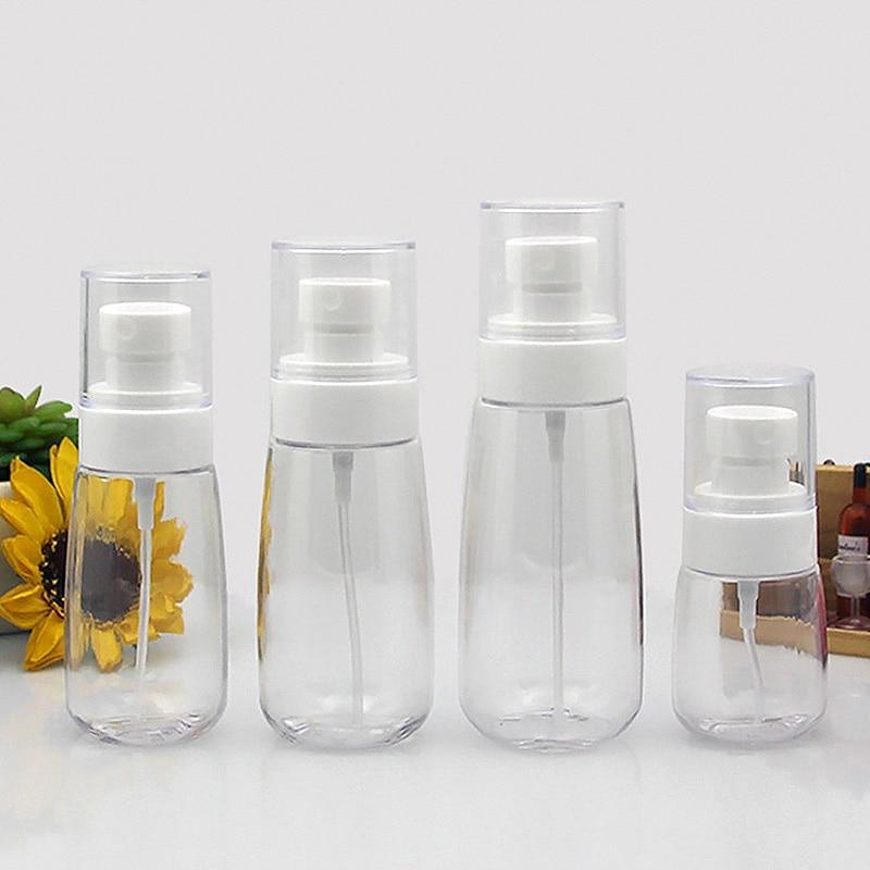 1pcs 30/60/80/100ml Baby Bath Shower Shampoo Cap Tool Travel Transparent Plastic Atomizer Empty Refillable Spray Bottle