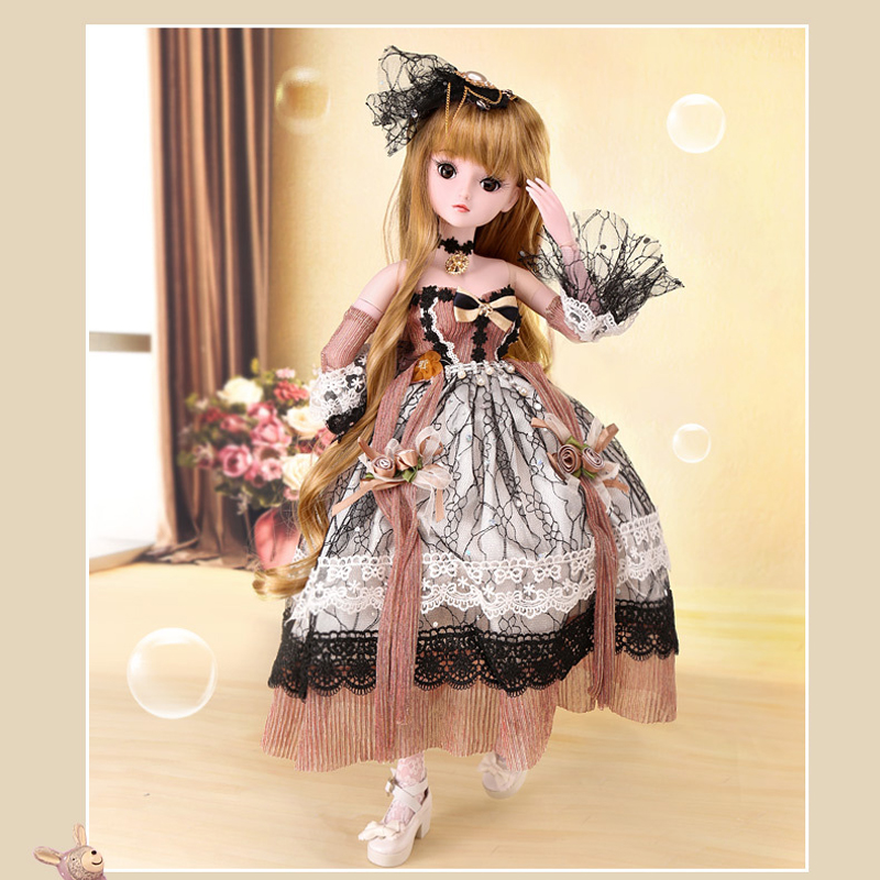 60cm Large Girl Dolls Long Hair Princess Classic Beauty 19 Jointed 1/3 Bjd Doll Girls Toys For Children Birthday Gift60cm Large Girl Dolls Long Hair Princess Classic Beauty 19 Jointed 1/3 Bjd Doll Girls Toys For Children Birthday Gift