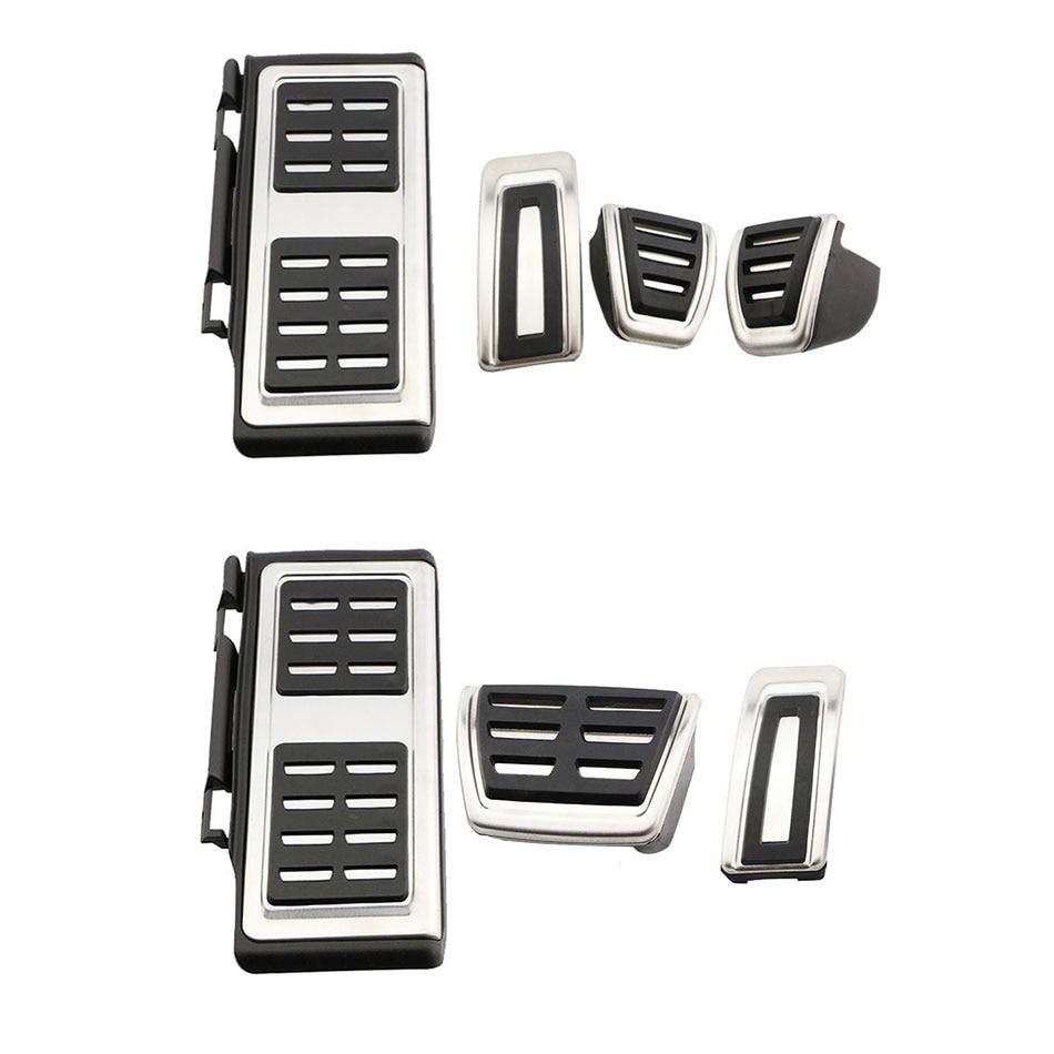 3PCS Rest+Brake Pedal+Accelerator Pedal Cover Trim For VW Passat 2016 2017
