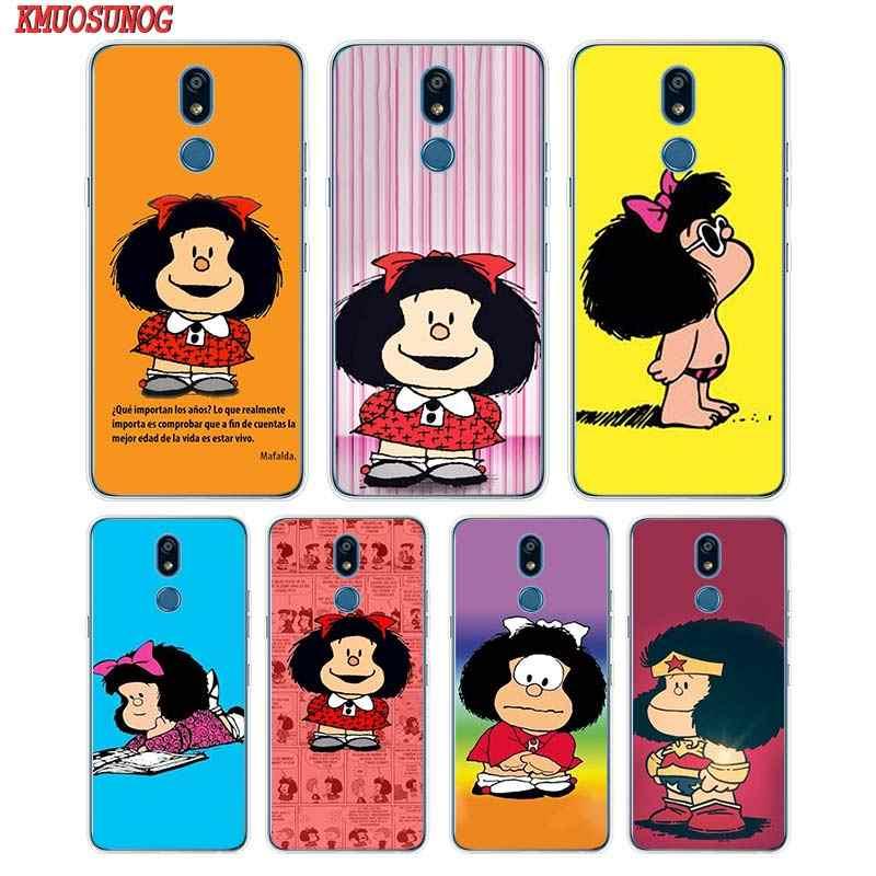 Мягкий силиконовый чехол для телефона Mafalda для LG K50 K40 Q8 Q7 Q6 V50 V40 V35 V30 V20 G8 G7 G6 G5 ThinQ мини Чехол