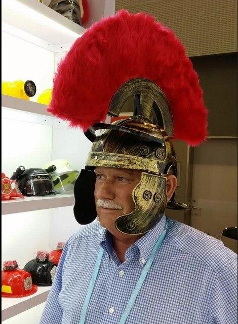 cosplay danca roma antiga capacete guerreiro bone spartacus chapeu 04