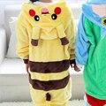 2016 Niños de la Historieta Pijamas Pikachu Pokemon Camisón de Los Pijamas de Manga Larga Para Bebés Ropa de Los Muchachos Niños Lindos Pijamas Infantil